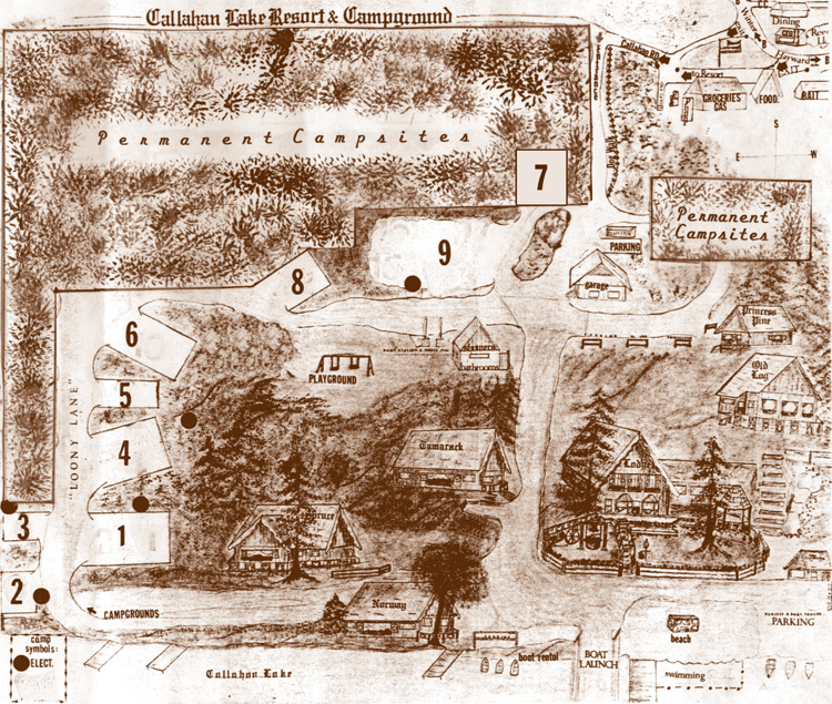 Callahan's Resort and Campground map