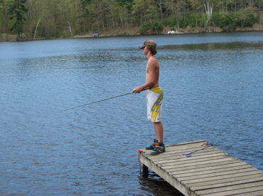 Callahan's Resort & Campground Lakefront fishing_on dock