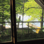 Old Log Cottage bedroom cabin view